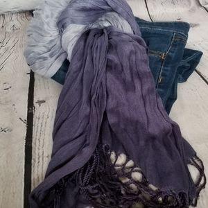 Purple ombre scarf